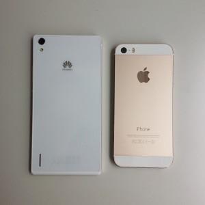Ascend P7 / iPhone 5s 裏側