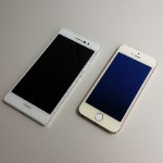 Ascend P7 / iPhone 5s の外観比較